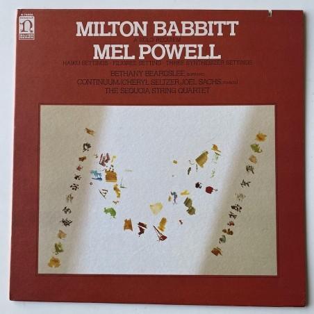 M. Babbitt / M. Powell - Three Synthesizer Settings N- 78006
