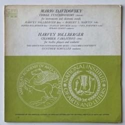 M. Davidovsky / H. Sollberger - Three Synchronism CRI 204