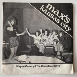 Wayne County & The Backstreet Boys - Max's Kansas City 1213