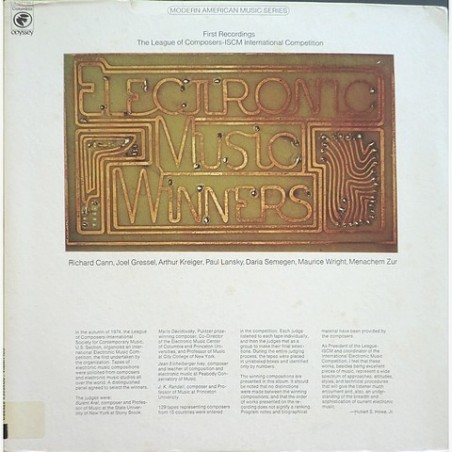 Various Artists - Electronic Music Winners Y 34139
