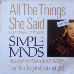 Simple minds - All The Things She Said (Extended Version) 608 131-213